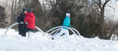 Outdoor Fitness in der kälteren Jahreszeit